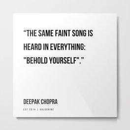 80  | Deepak Chopra Quotes | 191006 Metal Print