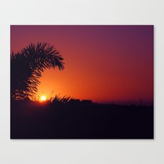 sunset in mexico Canvas Print