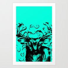Deer Color Art Print