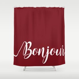 Bonjour Shower Curtain