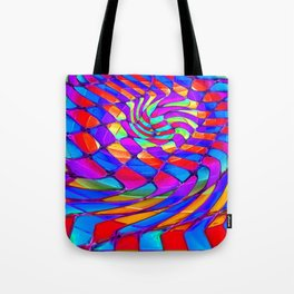Tumbler #34 Trippy Psychedelic Optical Illusion Design by CAP Tote Bag