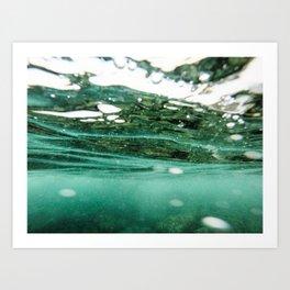 Underwater Reflection Art Print