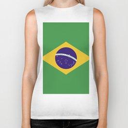 Brazil flag emblem Biker Tank