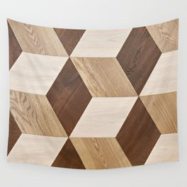 Wooden wall panel Wall Tapestry