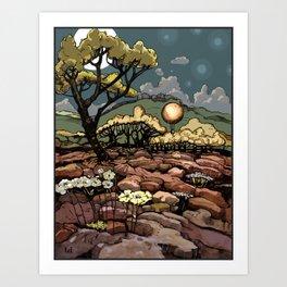 April 9, 2012 - adjusted color Art Print