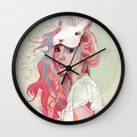austin Wall Clocks featuring Sweet Party by Ariana Perez