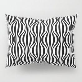 Black & White Wavy Pattern Pillow Sham