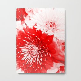 Bouquet In Red, White and Pink Metal Print