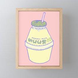 Banana Milk Framed Mini Art Print