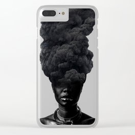 Smoke Face Clear iPhone Case
