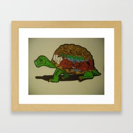 Tagged Turtle Framed Art Print