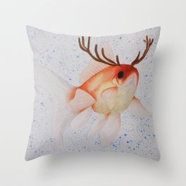 Pez ciervo  Throw Pillow