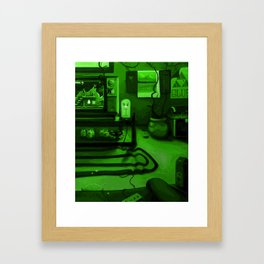 Link's gaming room - Only true gamers know Framed Art Print
