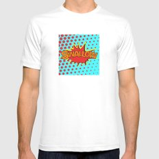 SWALLOW White Mens Fitted Tee MEDIUM
