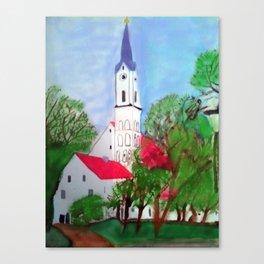 Kirche von Ergolding Canvas Print