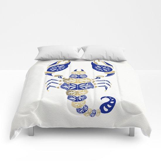 Scorpion – Navy & Gold Comforters