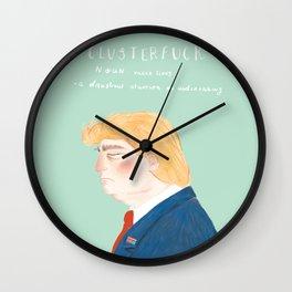 CLUSTERFUCK Wall Clock