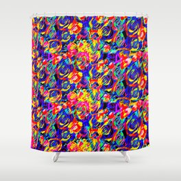 Psychedelic Roses Shower Curtain