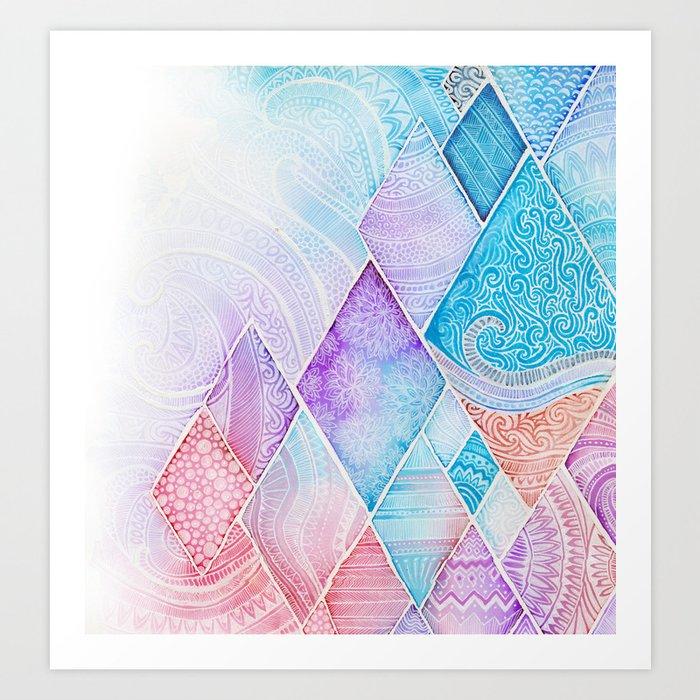 Ice. Art Print