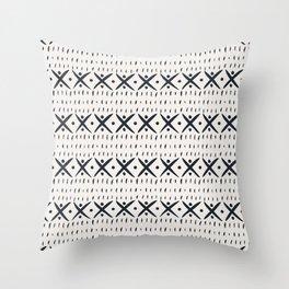 ADOBO MUDCLOTH LIGHT Throw Pillow