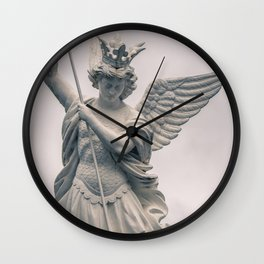 Saint Michael the Archangel Vanquishing Evil - Catholic Art in Lourdes France Wall Clock