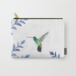 Hummingbird with tropical foliage Carry-All Pouch