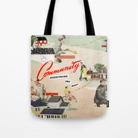community Tote Bags featuring Community by Heather Landis