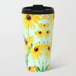 yellow sun choke flower 2 Travel Mug