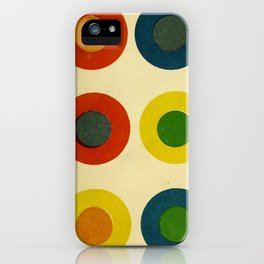 Contrast Circles iPhone Case