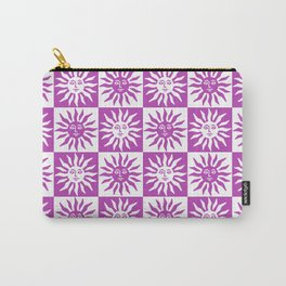 Mid Century Modern Sun Pattern Magenta Carry-All Pouch