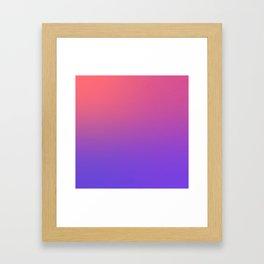 HALLOWEEN CANDY - Minimal Plain Soft Mood Color Blend Prints Framed Art Print