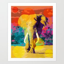 Elephant Pop Art Print