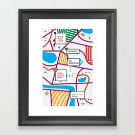 Haikuglyphics - Avian Flew Framed Art Print