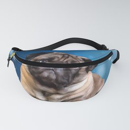 A Pug for Christmas. (Painting) Fanny Pack