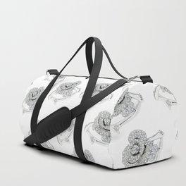 Silver Rose Ring Duffle Bag