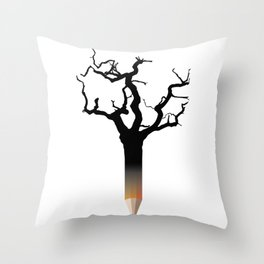 Pencil tree Throw Pillow