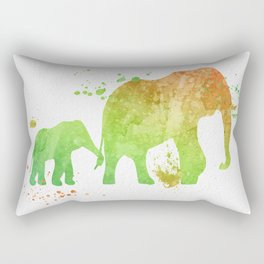 Elephants 020 Rectangular Pillow