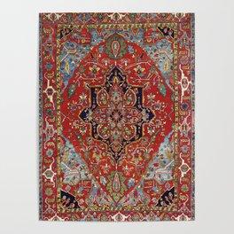 Heriz  Antique Persian Rug Print Poster