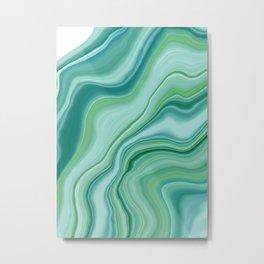 Liquid Emerald Green Agate Dream #1 #gem #decor #art #society6 Metal Print