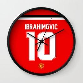Ibrahimovic Edition - Manchester United Home 2017/18 Wall Clock