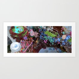 Looking down to the Phonix Mountain Art Print