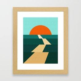 Abstract landscape XIII Framed Art Print