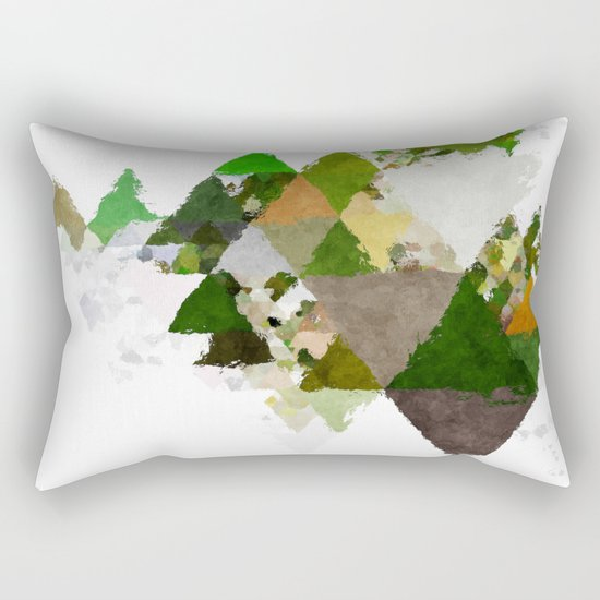 Spring Triangles - Fresh green and white triangle pattern - Greenery on #Society6 Rectangular Pillow