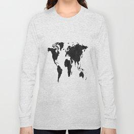 World Map Wall Art,World Map Canvas,World Map Print,World Map Poster,Printable Art,World Map Svg,Wat Long Sleeve T-shirt