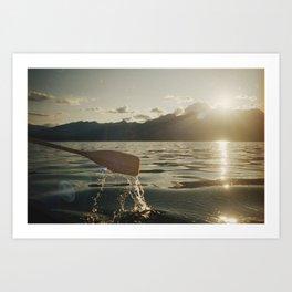 Canoeing on Lake Talbot Art Print