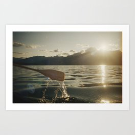Canoeing on Lake Talbot Art Print