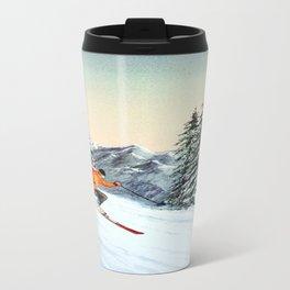 Skiing The Clear Leader Travel Mug