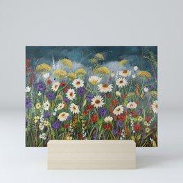 Stormy field. Mini Art Print