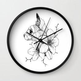 Sphynx cat & Sakura Blossoms Wall Clock