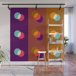 Geometric Pattern 99 (Overlapping circles) Wall Mural